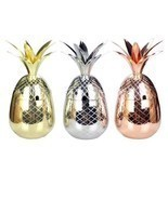 Pineapple Mugs Beer Copper Mug Stainless Steel Cup Cocktail Cup Glass Ba... - £27.95 GBP