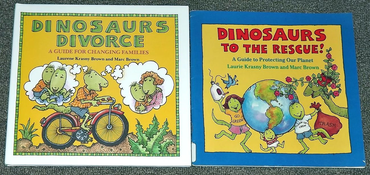 2 dinosaur marc brown books