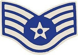 Air Force Usaf E-5 Staff Serg EAN T Rank Lapel Hat Pin - $18.04