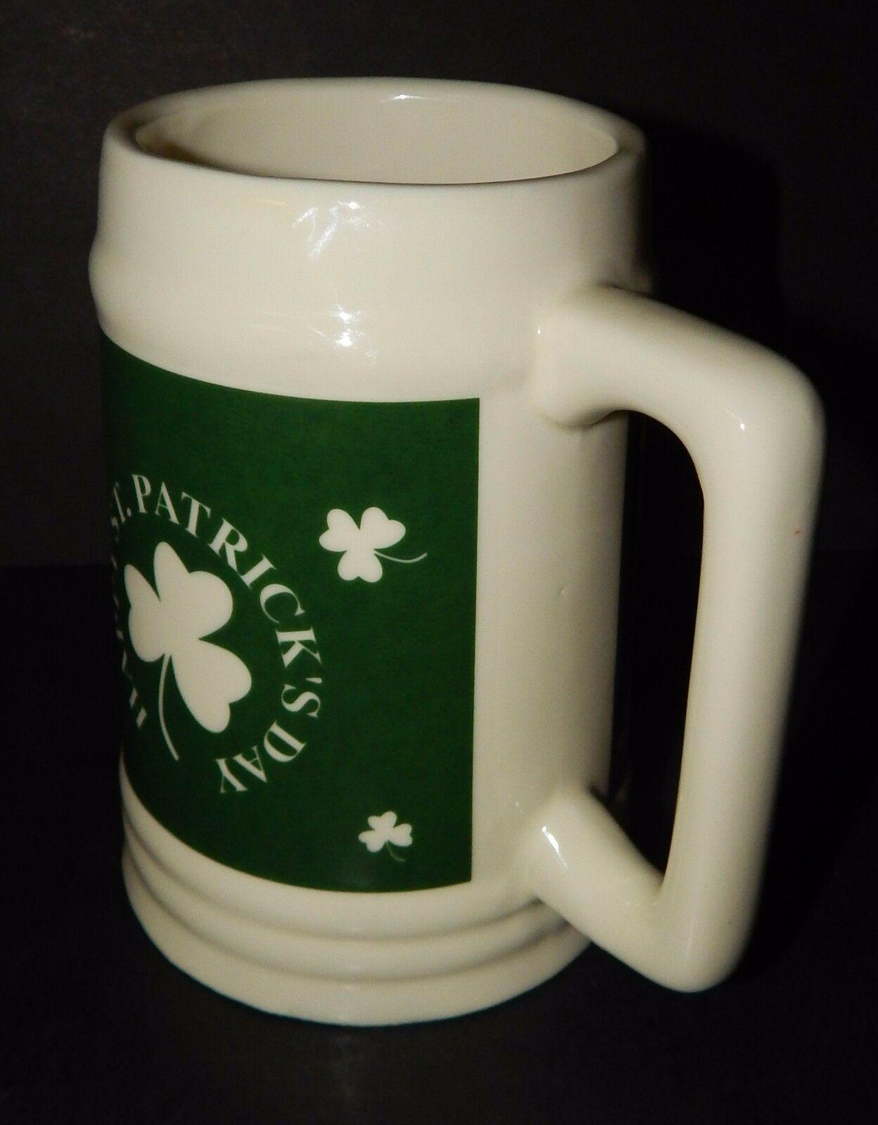 Irish Beer Stein Mug Happy St Patrick's Day  TB Toy Trading Company Big 32 oz