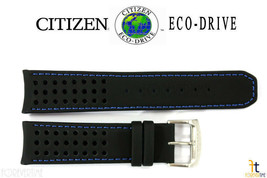Citizen 59-S52492 Original 22mm Black Leather Watch Band AT7030-05E 4-S0... - $71.95