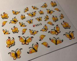Bang Store Nail Art 3D Decal Stickers Yellow Butterfly Cute Kawaii - $3.68