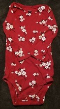 Carter's Infant Girl Long Sleeve Body Suit *SIZE 18M* Flowers  - $7.43