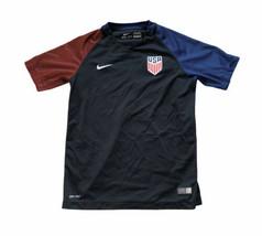 Nike Soccer Jersey Team USA Boys L 2016 Dri Fit Authentic American Logo ... - $37.36