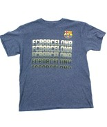 Fcb Barcelona Fussball T-Shirt L, Kurzärmlig Herren Futtball Blau Heathe... - $18.81