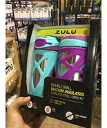 Zulu Double Wall Vacuum Insulate Stainless Steel Lunch Kit 12 oz - $17.97