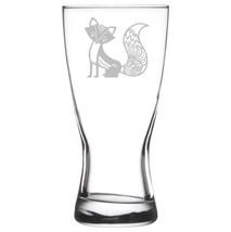 Beer Glass Pilsner Stein Mug 15oz Fancy Fox - $11.87