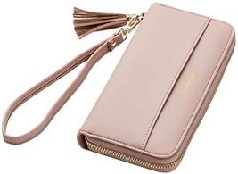 Travelambo Womens Wallet Tassel Bifold Ladies Cluth Wristlet Wrist strap... - $15.76