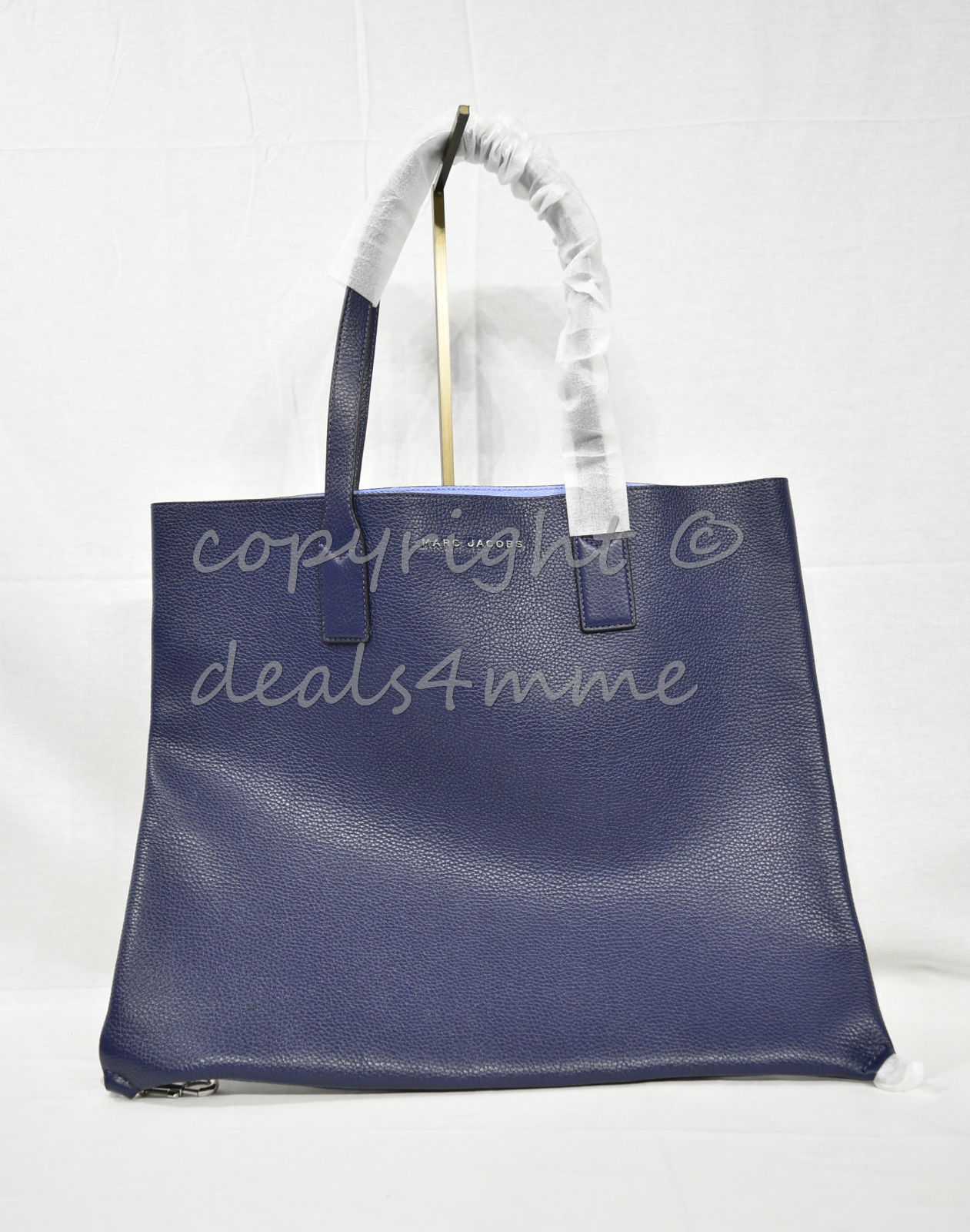 Primary image for MARC By Marc Jacobs M0008126 Wingman Leather Tote/Shoulder Bag Midnight Blue