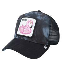 Goorin Bros Snapback Mesh Cap Floater Tie Dye Flamingo Pool Party Trucker Hat image 1