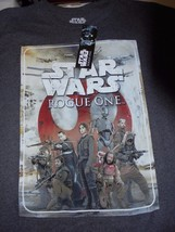 Star Wars Rogue One Adult Size Large Gray Short Sleeve T-Shirt NEW w/ Tags - $11.69