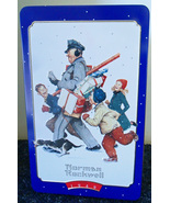 Norman Rockwell Christmas Tin * Snickers Candy Bar Brand * 1996 * 4th in series  - $14.95