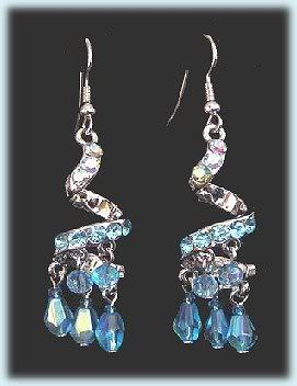 Earrings exoticbluespirals
