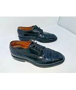 Church's Custom Grade Black Leather Wingtip Brogue Shoes Mens UK Size 8 F - $148.49