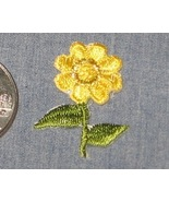 Embroidered iron on YELLOW FLOWER Gold Sunflowe... - $3.50