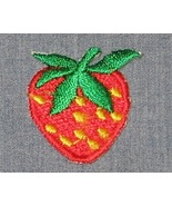 Embroidered iron on STRAWBERRY 1x1 inch x1 appl... - $2.50