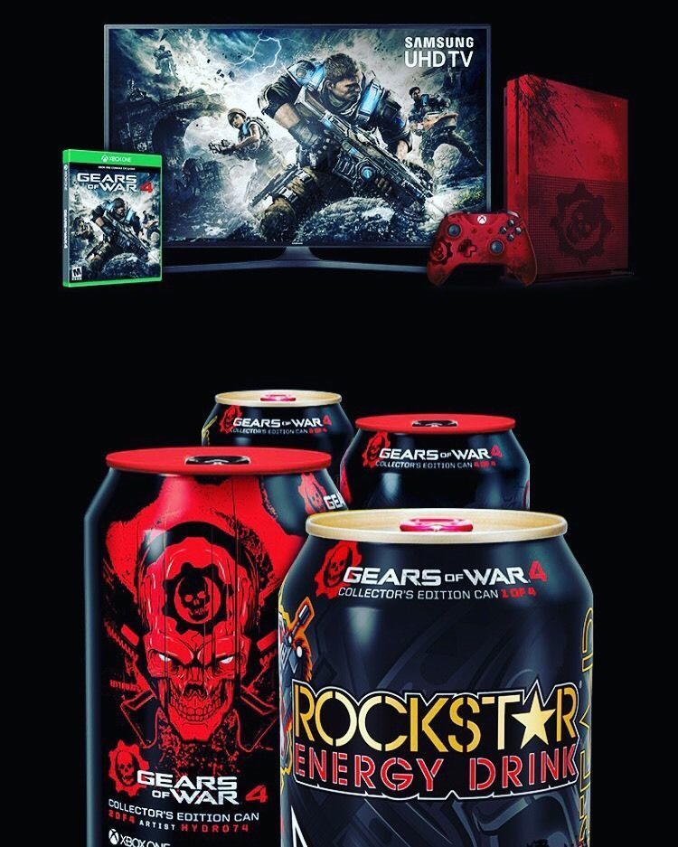 Rockstar Energy Drink Gears Of War 4. Full 4 Collectors Can Only. EXPIRED Codes