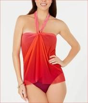 new RALPH LAUREN women swimwear swimming suit LR9GL11 1pc red purple sz ... - $39.59