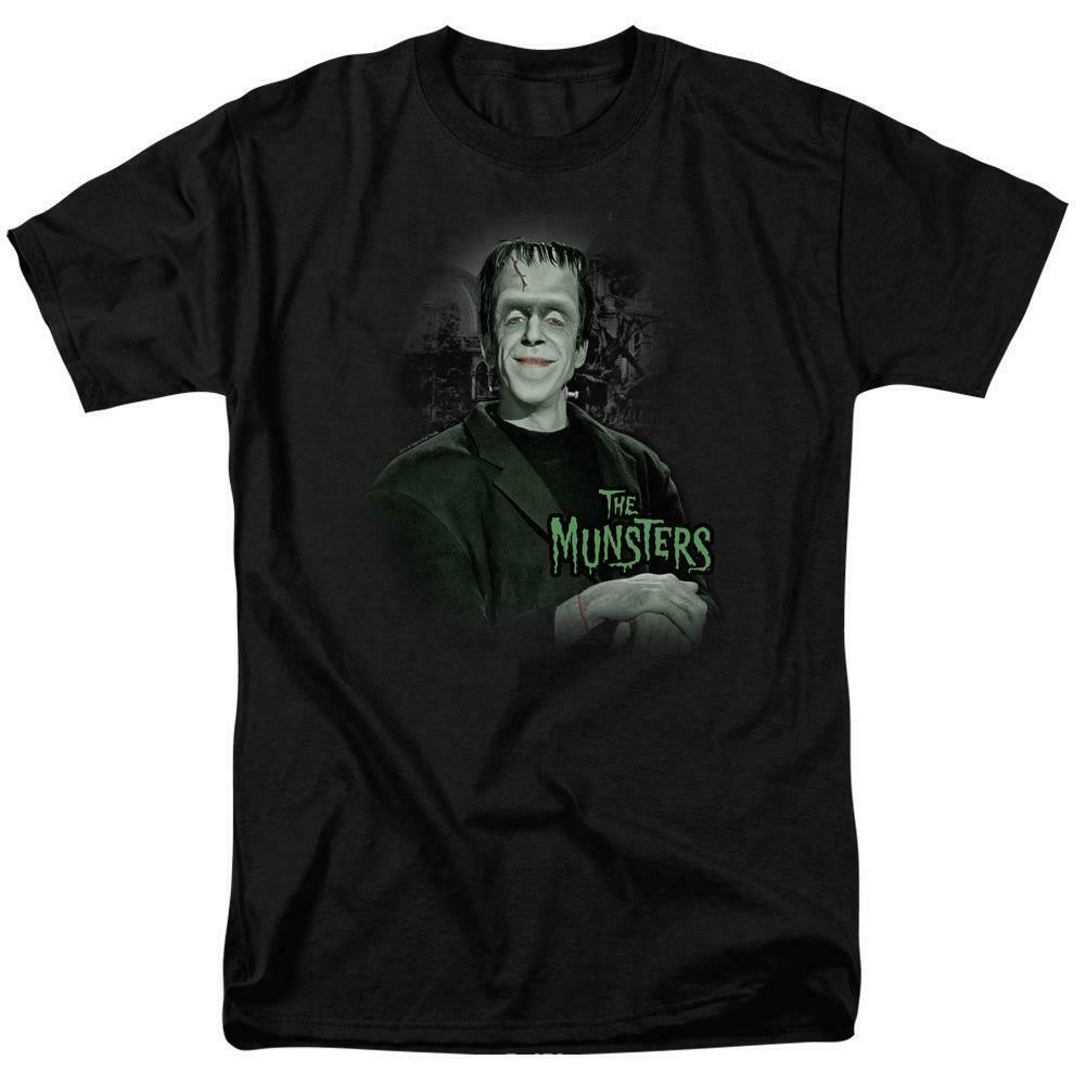 The Munsters Herman t-shirt Fred Gwynne Retro 60's TV graphic tee NBC101