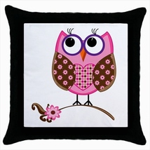 Throw pillow case cover cartoons owl buho - $19.50