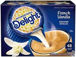 International Delight, French Vanilla, Single-Serve Coffee Creamers, 48 Count Pa