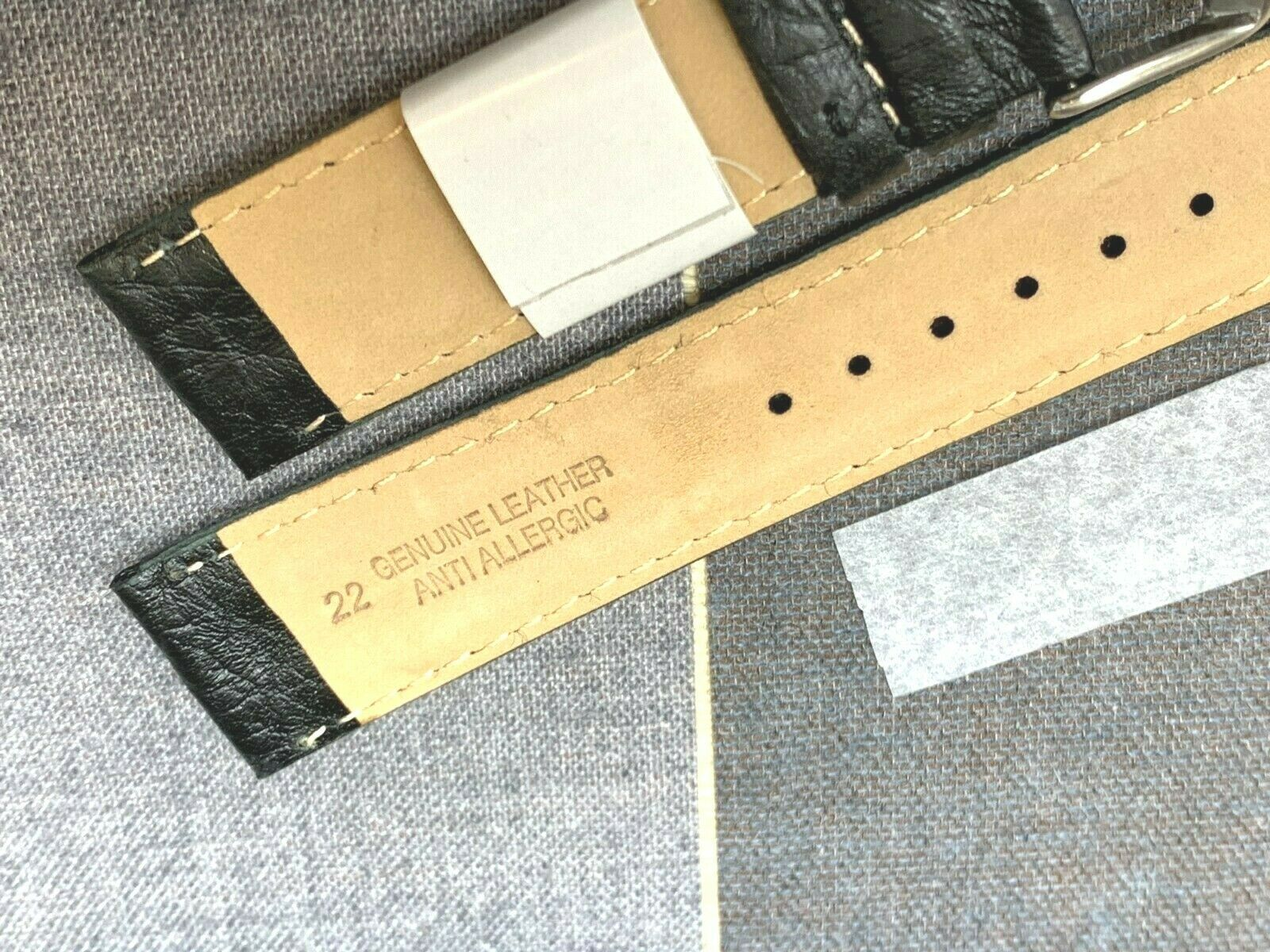 EURO ALFA WATCH BAND GENUINE LEATHER FOR KENNETH COLE DOUBLE HUMP 18MM image 3