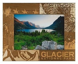 Glacier National Park Laser Engraved Wood Picture Frame (5 x 7)  - £24.81 GBP