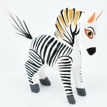 Oaxacan Alebrijes Copal Wood Carved Painted Folk Art Miniature Zebra Mini Figure image 1