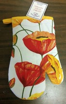 "1 Printed Oven Mitt (10"") Flowers, Large Tulips By Am - $7.91"