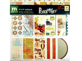 Making Memories 8x8 Inch Panorama Specialty Multi Paper Pack, 20 Sheets #34925