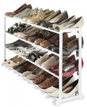 Closet Home Bedroom Organizer White Shoe Rack Wire Shelf Storage System ... - $46.43 CAD