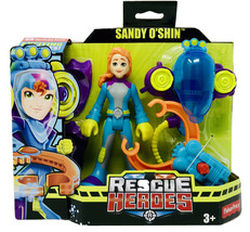 Fisher Price Rescue Heroes Sandy O'Shin & Removable Flippers, SCUBA Pack... - $11.99