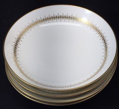 "Set of 4 Mikasa Narumi Bryn Mawr Bowls Bone China Gold Trim 8"" Diameter MCM - $34.64"