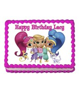 Shimmer and Shine cast party decoration edible cake image cake topper - $7.80