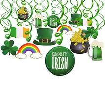 Konsait St.Patrick Day Party Decoration Swirls30pcs, St Patricks Day Hanging Dec image 1