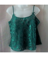 Large green La Senza polyester camisole - $7.50