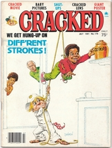 A vintage July 1981 issue of Cracked Magazine, Humor , Cover Art - $12.80