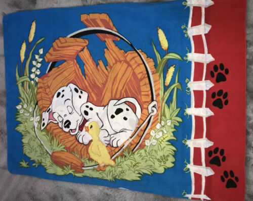 Vintage Disney 101 Dalmations Puppies Pillowcase  Fabric Craft - $44.54