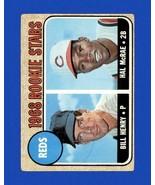 HAL MCRAE RC 1968 Topps #384 (EX) ROOKIE STARS w/BILL HENRY Cincinnati Reds - $2.99