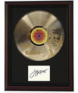 JIMMY BUFFETT CHERRY WOOD FRAMED ETCHED GOLD LP SIGNATURE RECORD DISPLAY... - $151.95