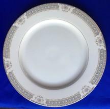 Mikasa Richelieu Serving Platter Ivory China Chop Plate Round Plate Gray - $14.60
