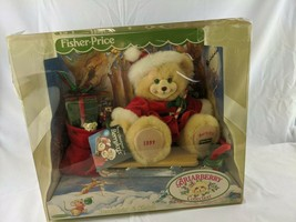 Fisher Price Briarberry Bears BerryKris & Sleigh 1999 Stuffed Animal Toy - $21.95