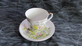 Vintage 1960's Cup Saucer TO MOTHER WITH LOVE, Norcrest, Japan, Nice - $11.29