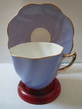 Rosina Purple and White Teacup and Saucer - $23.00