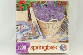 "Springbok Jigsaw Puzzle  ""Basket of Lavender"" 1000 pieces 24""x30"" - $14.03"