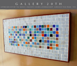 SUPERB! MID CENTURY MODERN ORIGINAL TILE MOSAIC WALL ART! VTG 50'S ATOMI... - $3,500.00