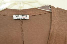 Michael Stars sweater OSFM brown cardigan dropped shoulders lightweight fall USA image 6