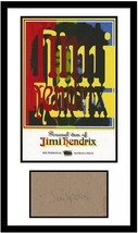 Jimi Hendrix Signed Autographed Card Matted w/ Personally Owned Bandana Swatch - $799.99