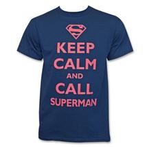 Superman Keep Calm and Call Shirt Blue - $16.98+