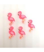 Pink Flamingo Push Pins Thumb Tacks or Magnets   X5 Hand Crafted - $9.99